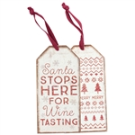 Santa Bottle Tag