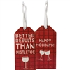 Mistletoe Bottle Tag
