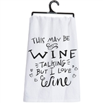 I Love Wine Towel
