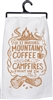 Coffee Campfires Towel
