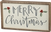 Inset Box Sign - Merry Christmas