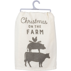 Christmas on the Farm Towel