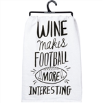Wine Makes Football towel