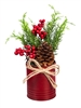 Red Berry & Pine Table Decor