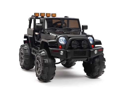 Kids 12V Battery Powered Ride On Truck Black