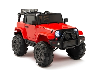 Kids 12V Battery Powered Ride On Truck with Full Doors and Big Wheels plus Remote Control - Red