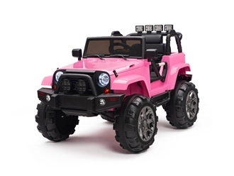 Kids 12V Battery Operated Ride On Truck with Big Wheels RC / Remote Control - Pink