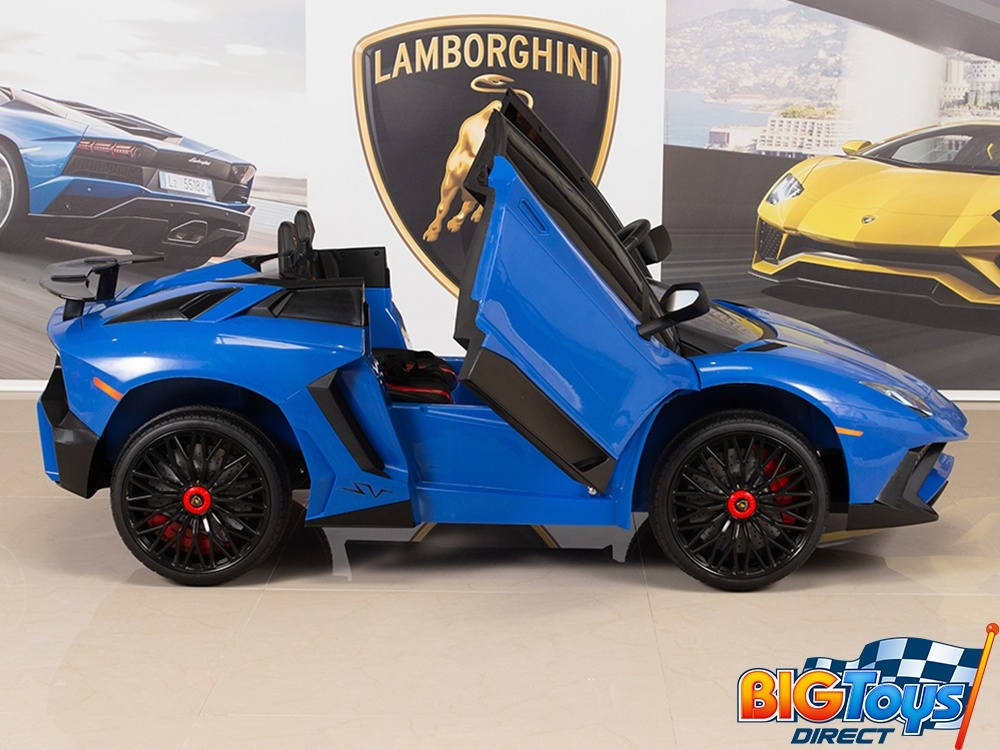12v Ride On Sports Car Lamborghini Aventador Sv With Remote Blue