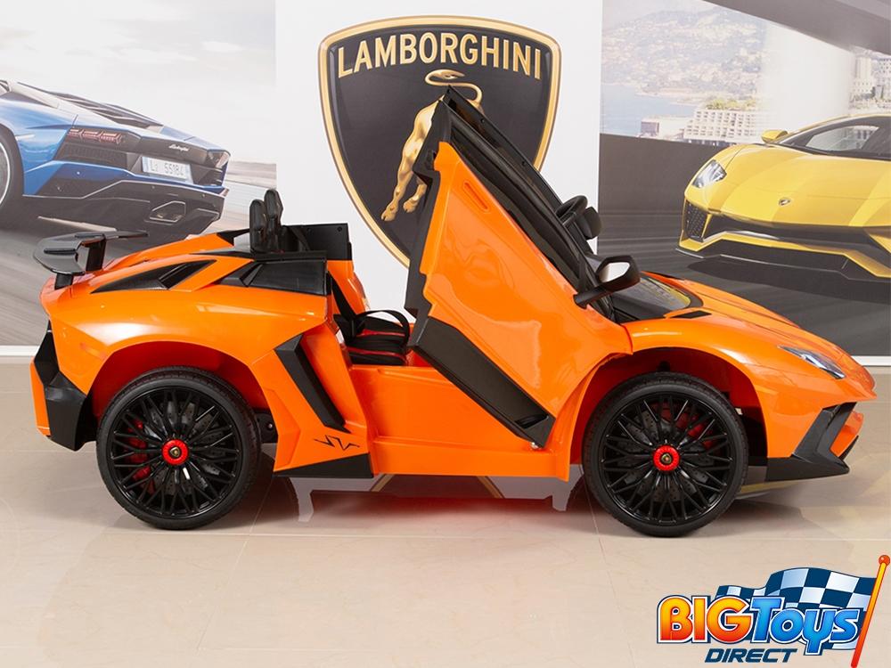 Kids 12v Ride On Battery Powered Lamborghini Aventador Sv Sports Car