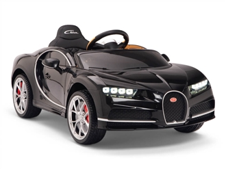 Big Toys Direct 12V Bugatti Chiron Car Black