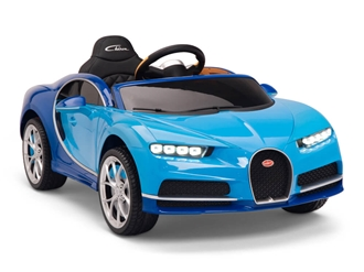 Big Toys Direct 12V Bugatti Chiron Car Two-Tone Blue