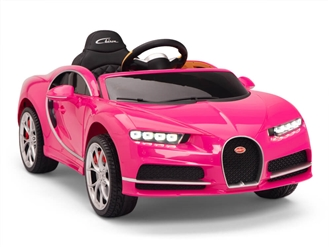 Big Toys Direct 12V Bugatti Chiron Car Pink