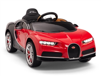 Big Toys Direct 12V Bugatti Chiron Car Red and Black