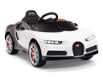 Big Toys Direct 12V Bugatti Chiron Car White and Black