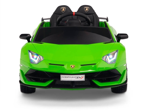 12V Kids Ride On Sports Car Battery Powered Lamborghini Aventador SVJ with Remote - Green