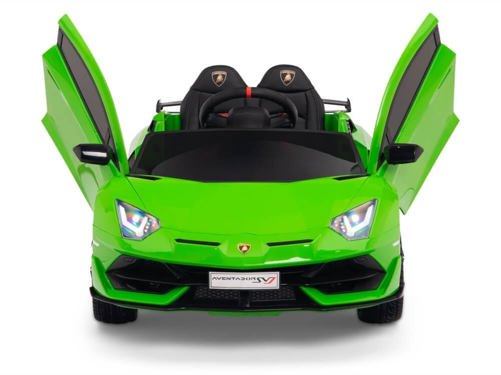 12V Lamborghini Aventador SVJ Kids Ride On Sports Car with Remote , Green