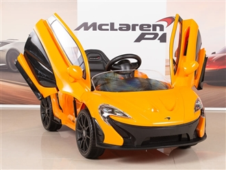 McLaren P1 Kids 12V Battery Operated Ride On Car with Remote Control - Orange
