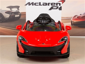 McLaren P1 Kids 12V Battery Operated Ride On Car with Remote Control - Red