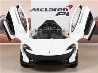 McLaren P1 Kids 12V Battery Operated Ride On Car with Remote Control - White