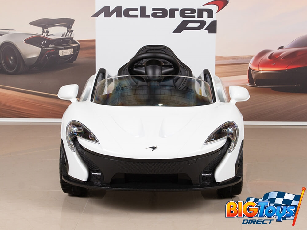 Mclaren P1 Orange 12v Ride On Car With Pa Remote Erfly Doors And Leather Seat