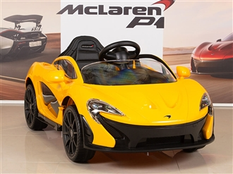 McLaren P1 Kids 12V Battery Operated Ride On Car with Remote Control - Yellow