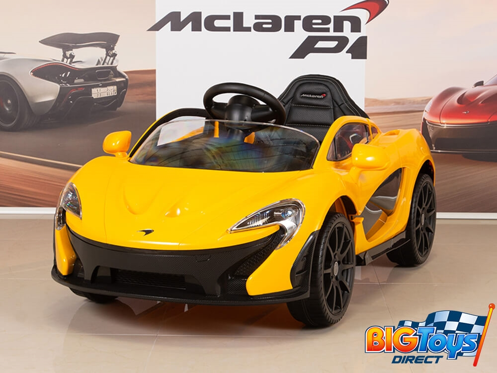 50541d888bce 12V McLaren Yellow Ride On Car With Parent Remote and Butterfly Doors