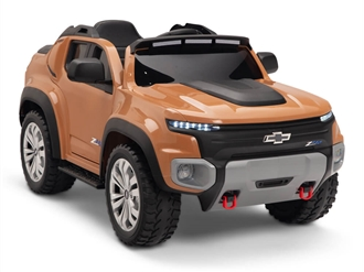 Kids 12V Chevy Colorado Ride On Truck Coffee