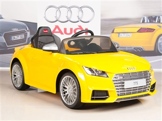 12V Audi TTs Kids Ride On Car Yellow