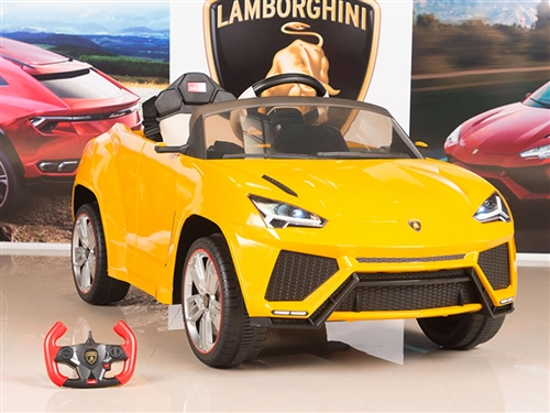 12V Lamborghini Urus Kids Battery Operated Ride On Car with Remote Control - Yellow