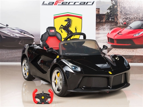 Ferrari 12V LaFerrari Kids Electric Ride On Car with MP3 and Remote Control - Black