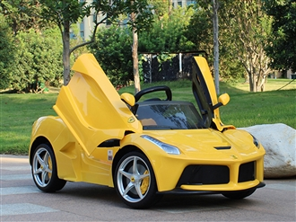 Ferrari 12V LaFerrari Kids Electric Ride On Car with Remote Control - Yellow