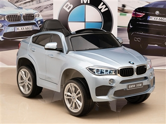 One Seat BMW X6M Kids 12V Silver/Blue