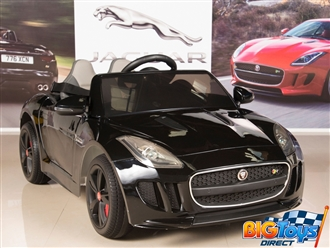 Jaguar F-TYPE 12V Kids Ride On Battery Powered Wheels Car with 2.4GHz RC Remote, Black