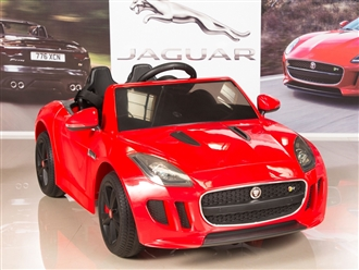 Jaguar F-TYPE 12V Electric Kids Ride On Car with RC Remote, Red