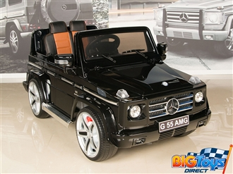 12V Mercedes Benz G55 PREMIUM Ride On SUV with Remote and MP3 - Black