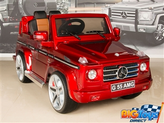 12V Mercedes Benz G55 PREMIUM Ride On SUV with Remote and MP3 - Red