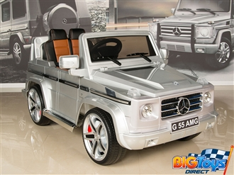 12V Mercedes Benz G55 PREMIUM Ride On SUV with Remote and MP3 - Silver
