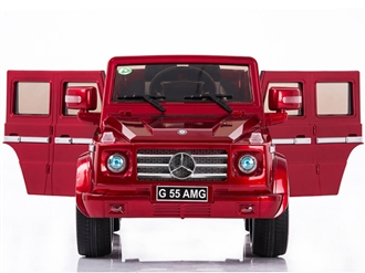 12V Mercedes Benz G55 Ride On Truck SUV With Remote & Doors - Red