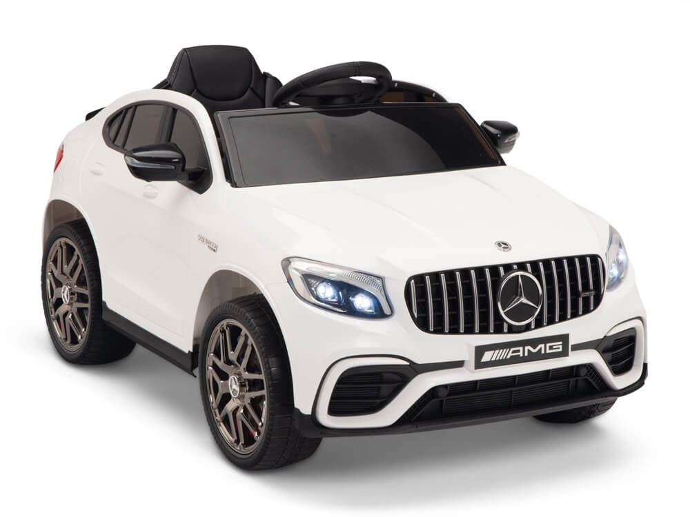 White Mercedes Benz >> 12v Mercedes Benz Glc63s Kids Battery Operated Ride On Car With Remote Control Usb Mp3 White