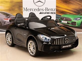 12V Mercedes-Benz AMG GTR Kids Ride On Car with Remote Control - Black