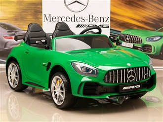 12V Mercedes-Benz AMG GTR Kids Ride On Car with Remote Control - Green