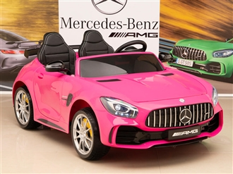 12V Mercedes-Benz AMG GTR Kids Ride On Car with Remote Control - Pink