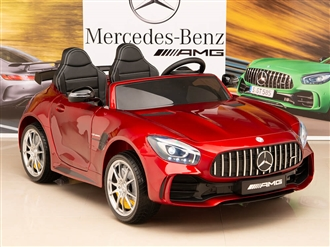 12V Mercedes-Benz AMG GTR Kids Ride On Car with Remote Control - Red