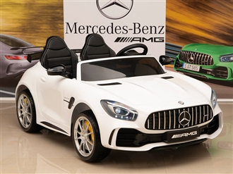 12V Mercedes-Benz AMG GTR Kids Ride On Car with Remote Control - White