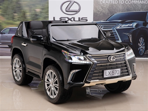 12V Lexus LX 570 Kids Ride On SUV with Remote Control - Black
