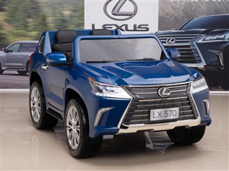12V Lexus LX 570 Kids Ride On SUV with Remote Control - Blue