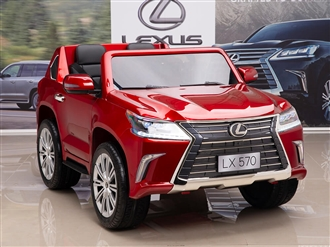 12V Lexus LX 570 Kids Ride On SUV with Remote Control - Red