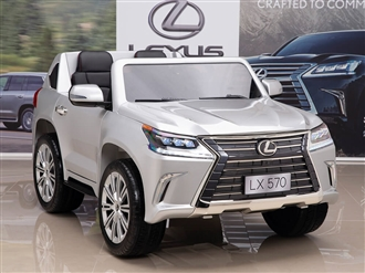 12V Lexus LX 570 Kids Ride On SUV with Remote Control - Silver