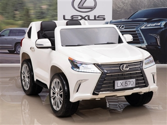 12V Lexus LX 570 Kids Ride On SUV with Remote Control - White