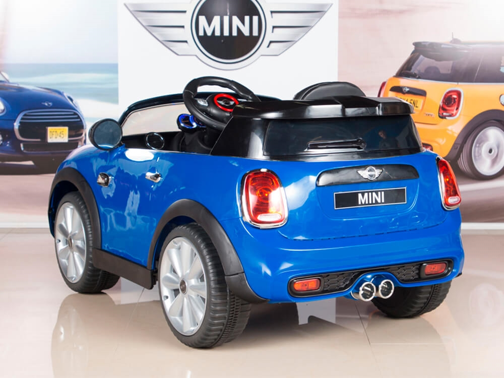 12v Mini Cooper Kids Electric Ride On Car With Mp3 And Remote Control Blue